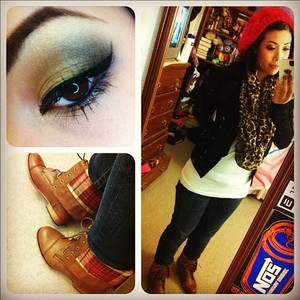 outfit for the day. makeup done by naked palette 2