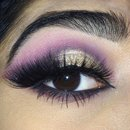 Gold and pink look