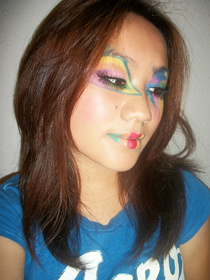 I was having fun with bright colors.