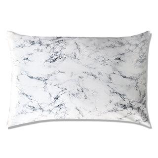 Queen/Standard Silk Pillowcase Marble