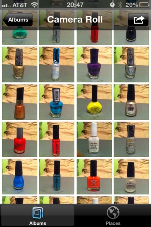 Yes, I have an inventory of my polishes in my phone! <3