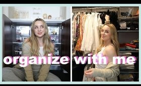 organize my bedroom, bathroom & closet with me