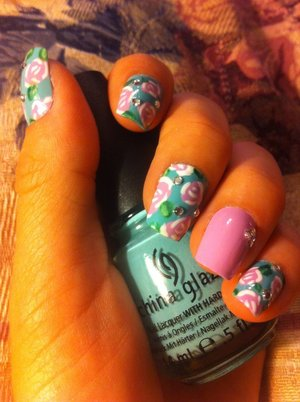 Another view of my new floral design!