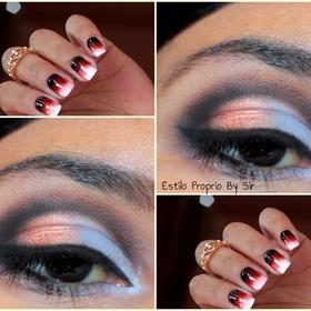 Combine Maquiagem ao Esmalte