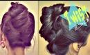 ★5 MIN UPSIDE DOWN TWIST BUN UPDO FOR MEDIUM LONG HAIR TUTORIAL |HAIRSTYLES| EVERYDAY WEDDING PROM
