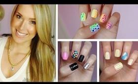 ✹Summer Nail Art!!! Three Easy Designs! ✹