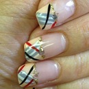 My burberry's nail design