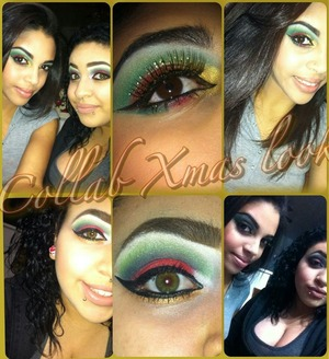 my cousin did her version of a xmas makeup look and so did i  =]