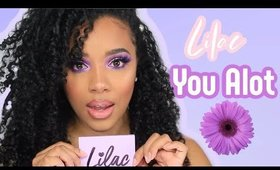 Lilac You A lot Palette | Lavender Eyeshadow Look| I mean what else is there to do? | leiydbeauty