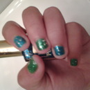 blue and green nails