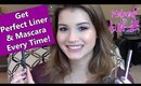 How To Use Liquid Liner and Mascara! Makeup Tutorial & Tips
