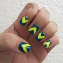 Blue Tape Manicure