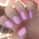 soft pink natural nails