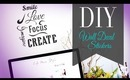 DIY Wall Decal   Inspirational Wall Art for the New Year by ANNEORSHINE