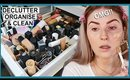 DECLUTTERING MY MAKEUP COLLECTION! ♻️ foundations & concealers!