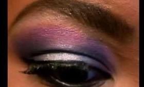 Makeup Tut: Silver & Purple smokey eyes