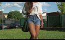 Sister Summer OOTD:Vintage Jeans Shorts