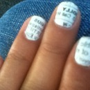 My newspaper nails!;)