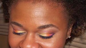 Bright Orange and Yellow Eyeshadow