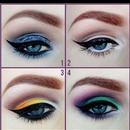 perfect colorfull eye make up!