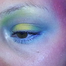 Bright & Colorful Mermaid-ish eye