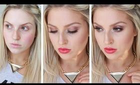 GRWM ♡ 100% Drugstore Affordable Daytime Red Lips, Bronze Eyes!