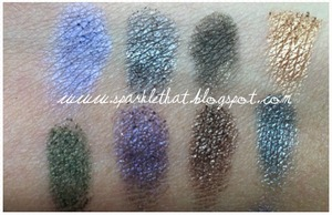 Urban Decay Book of Shadows IV - top half swatches  http://sparklethat.blogspot.com/2011/12/urban-decay-book-of-shadows-iv-swatches.html