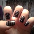 Purple & Black nails!