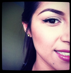 Winged liner is flattering on just about anyone!