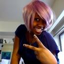 Short Purple Wig