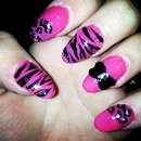 one of my tries on Stiletto nails
