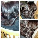 blow outs and round brush