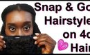 A 10 MINUTE Clip & Go HAIRSTYLE on 4C NATURAL HAIR~GRWM