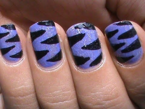 purple tiger nail art designs easy youtube do it yourself