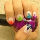 splattered paint inspired nail polish