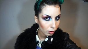 Makeup from my 2013 new year's eve youtube makeup tutorial.