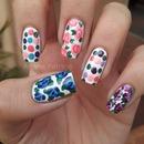 Retro Floral Nails