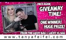 My Biggest Single Winner Giveaway Yet! $427 From the Lucky & Lucky XL Bags! | Tanya Feifel