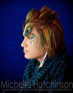 Peacock  Hair and MU- Jen P Michelle Hutchinson Photography
