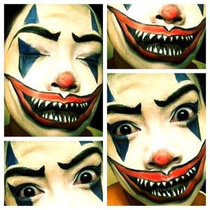 creepy/psycho clown makeup for halloween