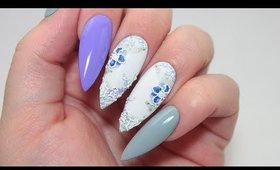 HOW TO: 3D VIOLET NAILS