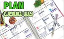 Plan with me #17: Erin Condren Life Planner Weekly Spread October 2015 / Erin Condren Horizontal