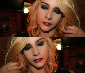 What boredom led me to one night! <3 Products: -Naked 2 -Yellow Oxide powder from Coastal Scents.