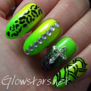 For more nail art, pics of this mani and products & method used visit http://Glowstars.net