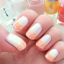 Flower french nail
