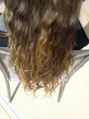 I applied some sun in to my ends and now im sitting in the backyard waiting for results! :)