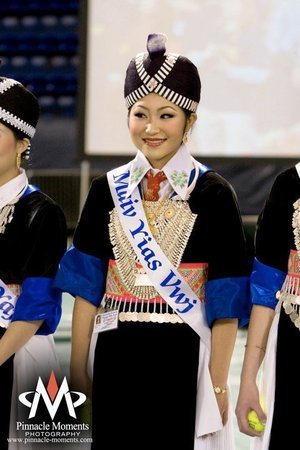In traditional Hmong Clothes for HANY Pageant 09-10