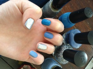 Summer nail look, inspired by the ocean!