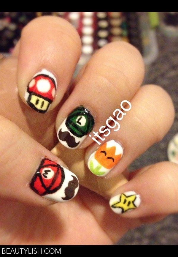 Super Mario Bros. Nail Art | Gao V.\'s Photo | Beautylish
