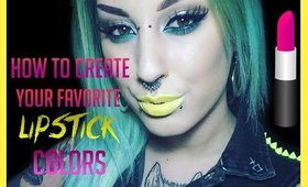 Tutorial: How to make your favorite lipstick colors